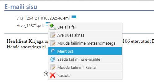E-maililt dokument